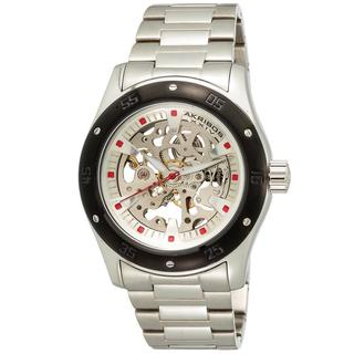 Akribos XXIV Men's Skeleton Automatic Stainless Steel Bracelet Watch