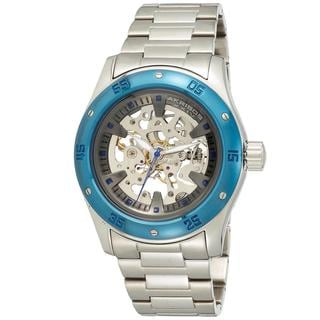 Akribos XXIV Men's Skeleton Automatic Bracelet Watch