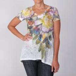 Journee Collection Women's Rhinestone Sublimation Tee