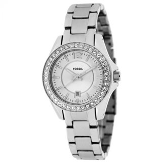Fossil Women's Mini 'Riley' Crystal Glitz Stainless Steel Watch