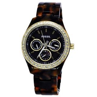 Fossil Women's ES2795 'Stella' Multifunction Brown Dial Tortoise Watch