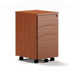 Mayline Brighton Laminated Mobile Pedestal File Folder Cabinet