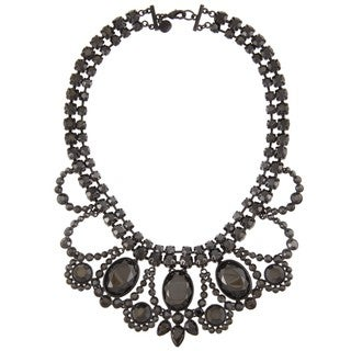 Carolee Lux Black-plated 'Sheer Shimmer' Simulated Hematite Necklace