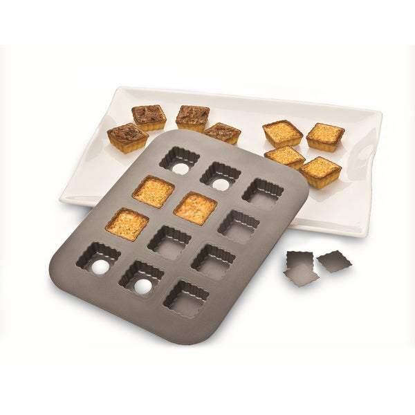 Aluminum Non-stick Lift and Serve Single Squares Pan