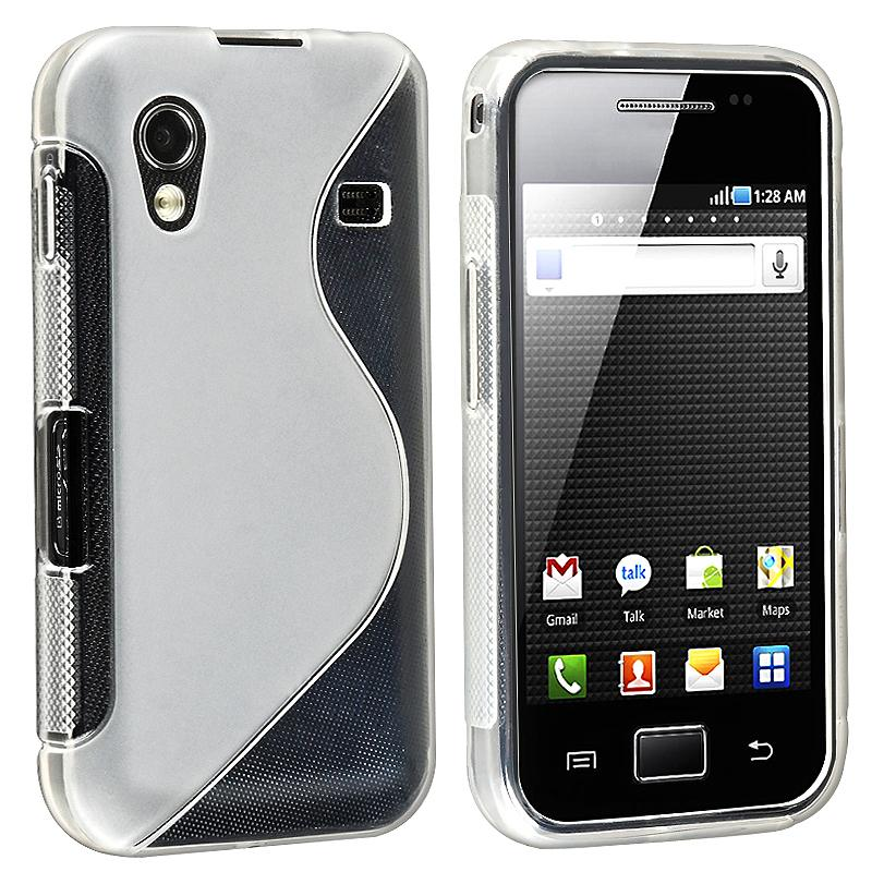 Clear White TPU Rubber Case for Samsung Galaxy Ace GT-S5830