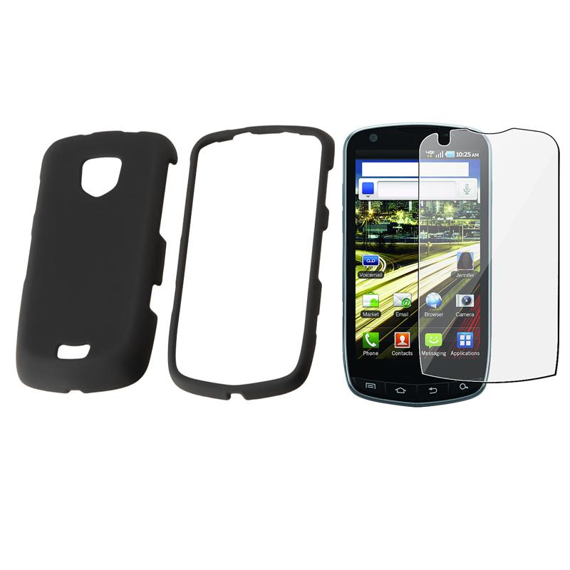 Rubber Coated Case/ Screen Protector for Samsung Droid Charge SCH i510