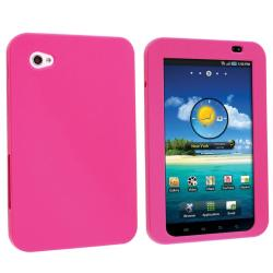 INSTEN Hot Pink Soft Silicone Tablet Case Cover for Samsung Galaxy Tab P1000 7-inch