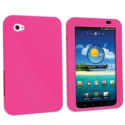 Hot Pink Silicone Case for Samsung Galaxy Tab P1000 7-inch