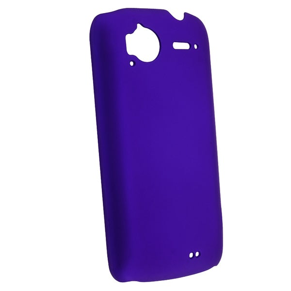 Blue Rubber Coated Case for HTC Sensation 4G/ Pyramid/ Z710e
