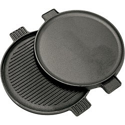 Bayou Classic 14-inch Cast Iron Reversible Round Griddle