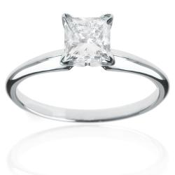 14k Gold 1ct TDW Princess Diamond Solitaire Engagement Ring (I-J, I1)