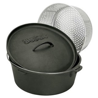 Bayou Classic 8.5-qt Dutch Oven with Steamer Basket