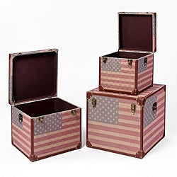 Christopher Knight Home Us Flag Trunks (Set of 3)