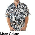 Men's Batik Print Collared Shirt (Indonesia)