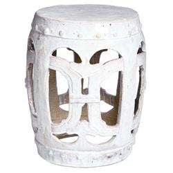 Vintage Handmade Vanilla Club Porcelain Garden Stool (China)