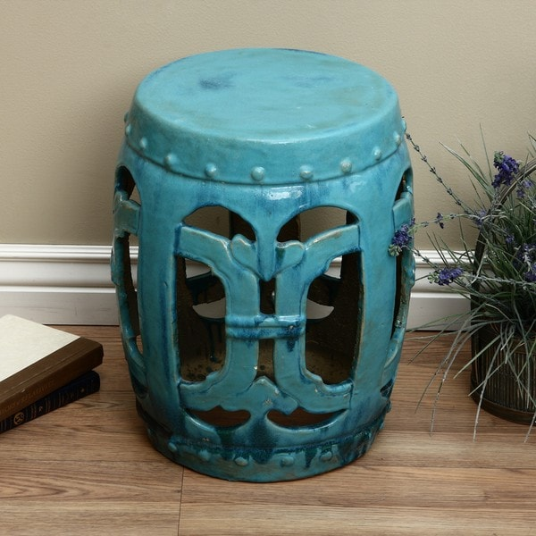 Ceramic Vintage Turquoise Club Garden Stool China