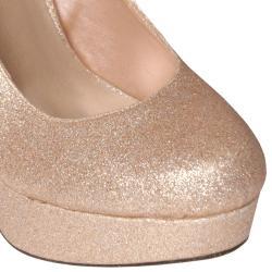 Glaze by Journee Co Women's 'Nicole-11' Glitter Platform Pumps