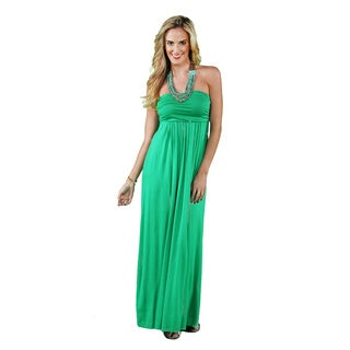 24/7 Comfort Apparel Women's Strapless Maxi Dress