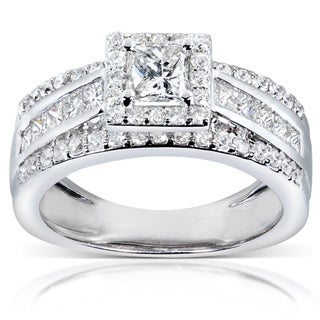 Annello 14k White Gold 1 1/5ct TDW Diamond Engagement Ring (H-I, I1-I2)