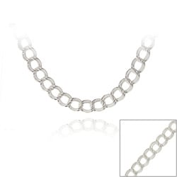 Mondevio Silver 18-inch Italian Intertwined Double Circle Necklace