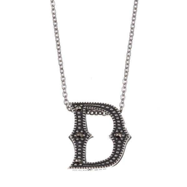 MARC Sterling Silver Marcasite Initial 'D' Necklace 8270220