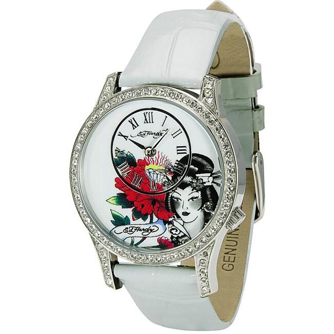 Ed Hardy Women's White Elizabeth Watch