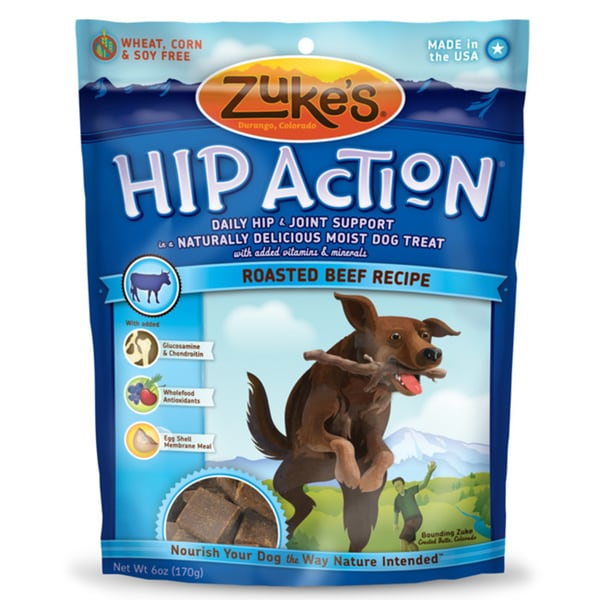 Zuke S Hip Action Beef Dog Treats