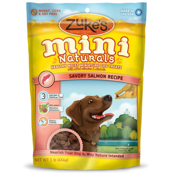 Zuke's Natural Moist Salmon Mini Dog Treat