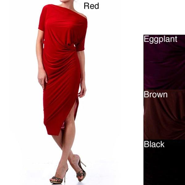 Tabeez Women's Asymmetrical Hemline Dress