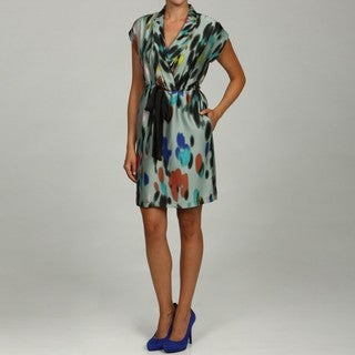 Marc New York Women's Drawstring Waist Surplice Neck Dress FINAL SALE