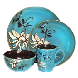 American Atelier Mirabel Blue 16-piece Dinnerware Set