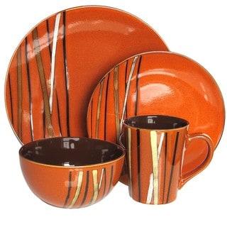 American Atelier Stix Paprika 16-piece Dinnerware Set