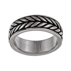 Stainless Steel Men's Braided Design Band
