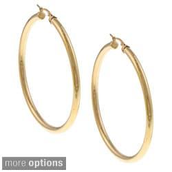 Ion-plated Stainless Steel 68-mm Hoop Earrings