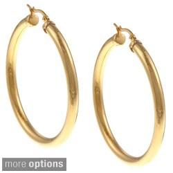 Ion-plated Stainless Steel 48-mm Hoop Earrings