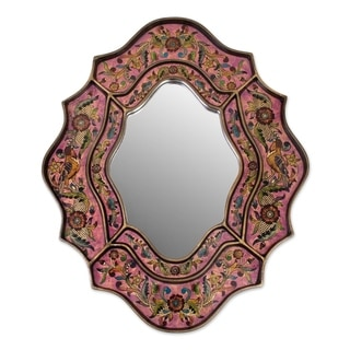 Reverse Painted Glass 'Romance' Mirror (Peru)