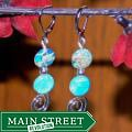 Susen Foster Silverplated Catamaran Blue Variscite Earrings