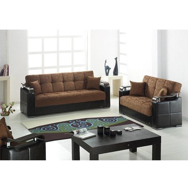 Soho convertible sofa bed set 13791902 overstockcom for Soho sofa bed