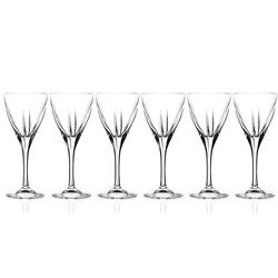 Fusion Collection Crystal Wine Glasses (Set of 6)