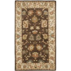 Safavieh Handmade Farahan Khaki/ Ivory Hand-spun Wool Rug (5' x 8')