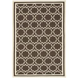 Safavieh Hand-woven Moroccan Dhurrie Chocolate/ Ivory Wool Rug (10' x 14')