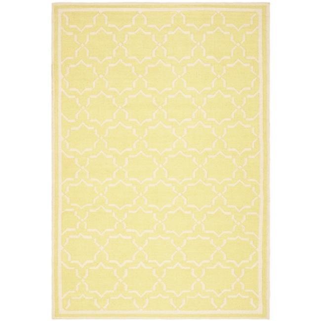 Safavieh Moroccan Light Green/Ivory Reversible Dhurrie Wool Area Rug (9' x 12')