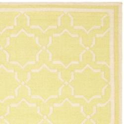 Moroccan Light Green/Ivory Dhurrie Wool Area Rug (9' x 12')