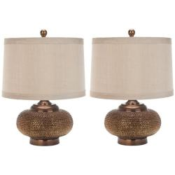 Indoor 1-light Gold Beaded Table Lamps (Set of 2)