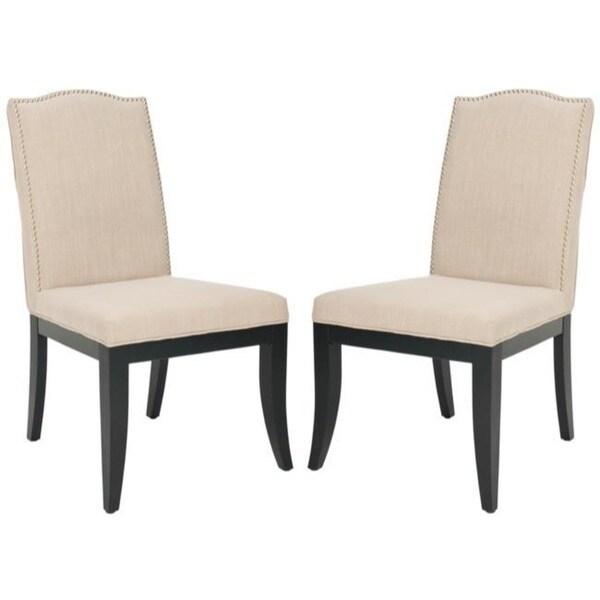 Safavieh Laurent Sand Nailhead Side Chairs (Set of 2)