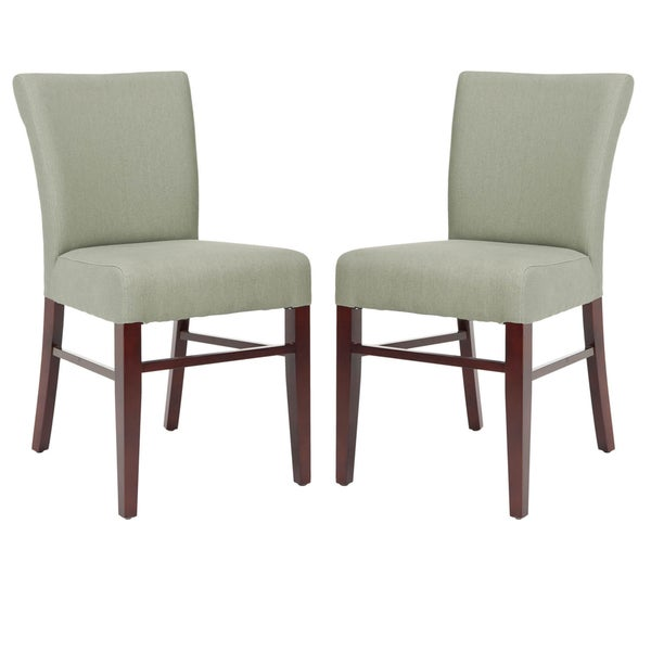 Safavieh Bolton Grey Green Linen Side Chairs (Set of 2)