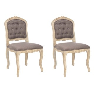 Safavieh Royalty Antiqued Tufted Side Chairs (Set of 2)