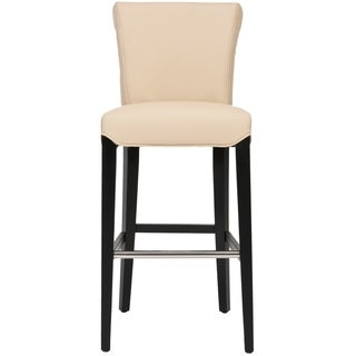 Safavieh Betheny Cream Leather Bar Stool