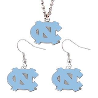 North Carolina Tarheels UNC Necklace Earring Charm Set