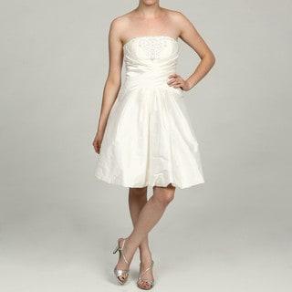 Eliza J Women's Criss-cross Embellished Waist Dress